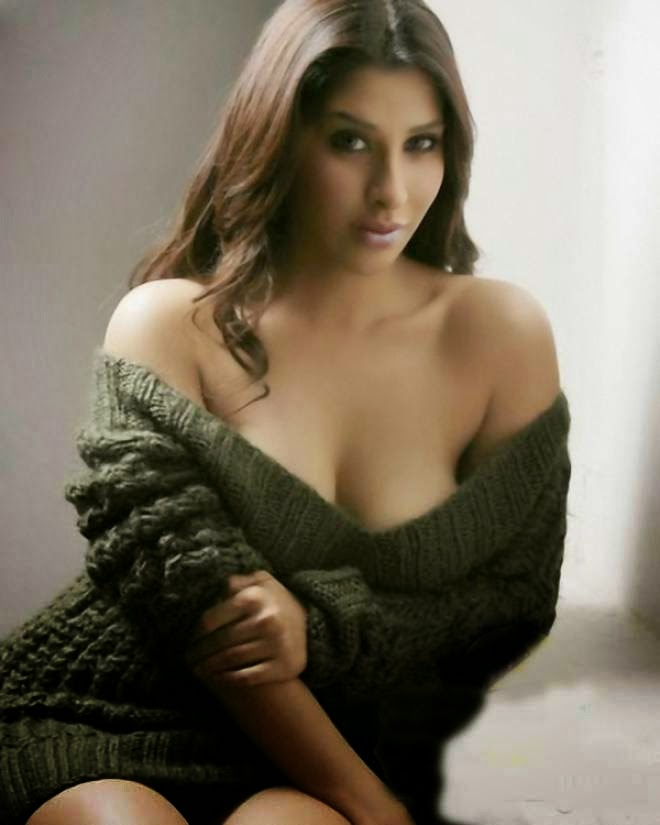 Sophie Chaudhary Hot Cleavage Show Photoshoot