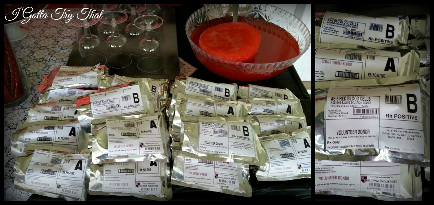 Google themes vampire diaries - I Love These Blood Bags And I Need To Give My Son In Law All The Credit He Made And Printed Out The Labels And Then Attached Them To Juice Pouches