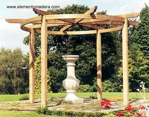 Pergolas de madera redondas inspiration - Pergola de madera ...