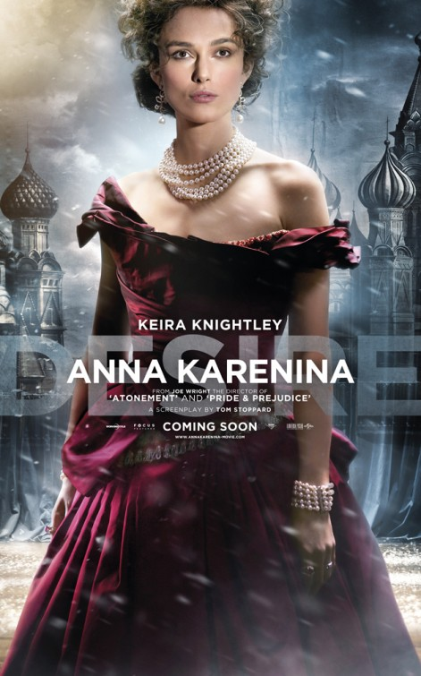 Keira Knightley Anna Karenina movie poster