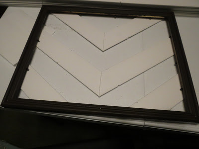 front of chevron picture frame