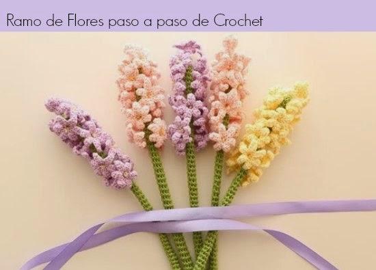 flores, ramos, crochet, dia de la madre