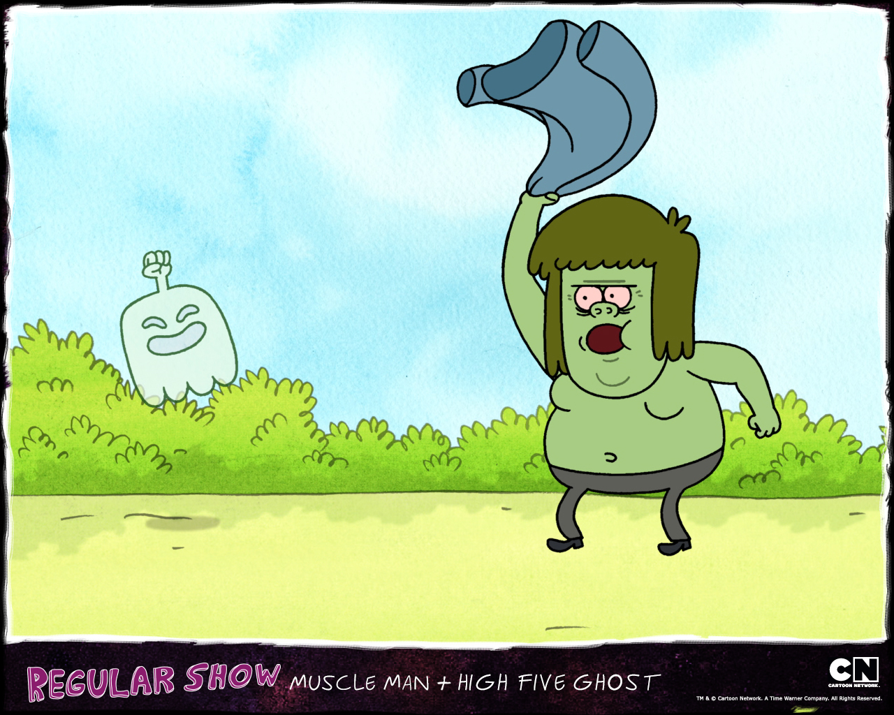 how to draw muscle man from regular show