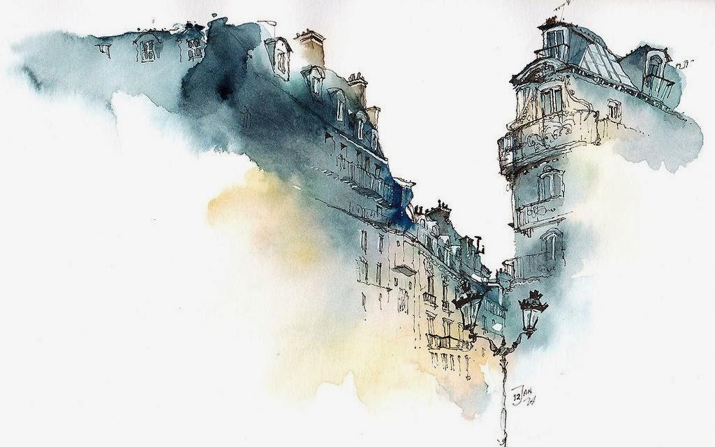 SKILLER LOOK Architectural Watercolors By Maja Wronska