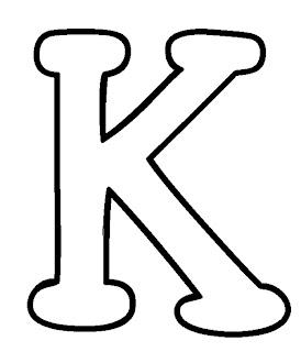 K Alphabet Letter Arte de Ensinar e Aprender: Moldes numeros e letras