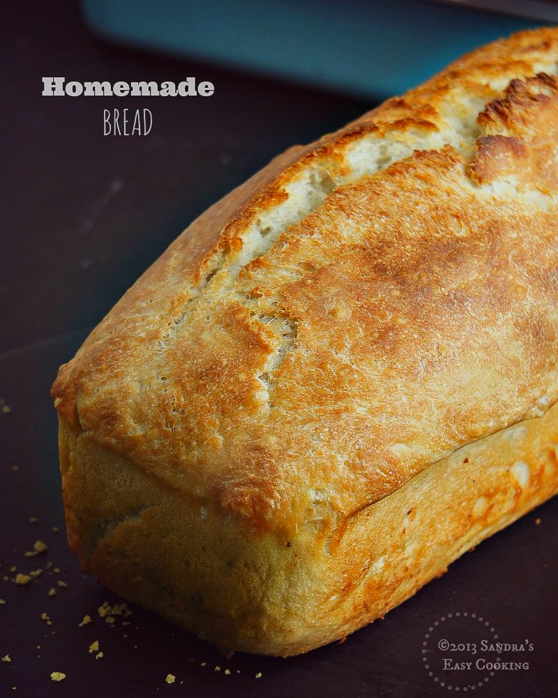 Easy no knead recipe for Homemade Bread Loaf