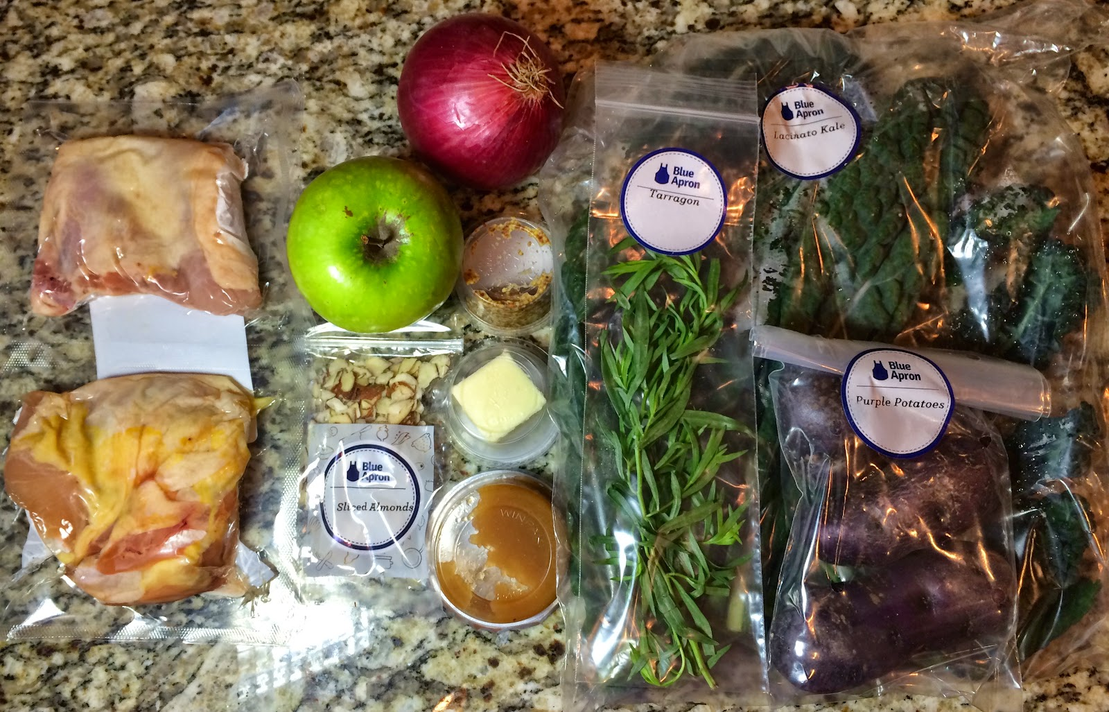 Blue apron kale hash - Ingredients For Pan Roasted Chicken With Lacinato Kale Purple Potato Hash