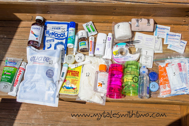 Kid Friendly First Aid Kit Contents
