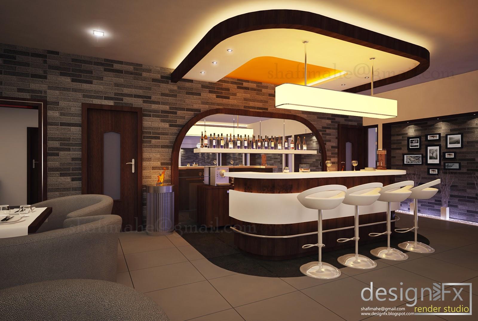 3d visuals restaurant project at bangalore for Restaurant 3d max