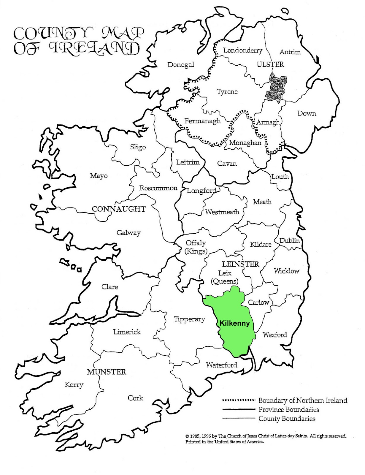 kilkenny but historically there are some living there between 1864 when universal civil registration of births marriages and deaths began in ireland