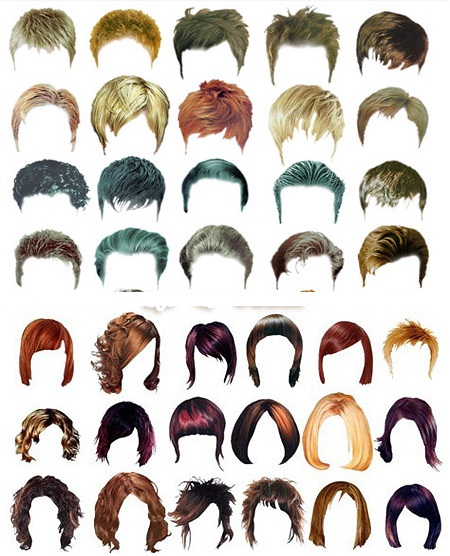 Men & Woman Hairstyles Template Bundle