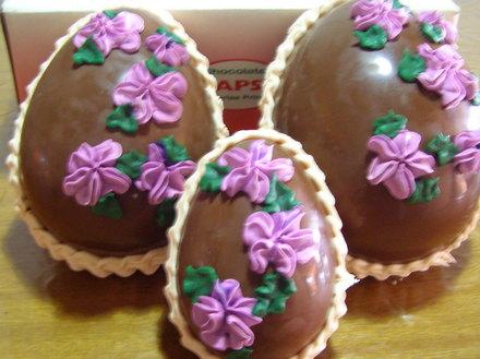 Hacer mania huevos de chocolate para pascua for Decoracion pascua
