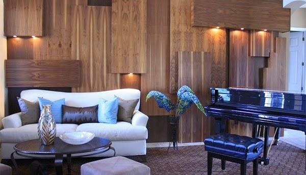 Décoration salon des murs en bois ~ Décoration Salon / Décor de Salon