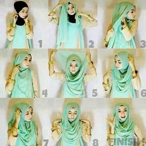 tutorial hijab segi empat pesta kreasi hijab segi empat modis