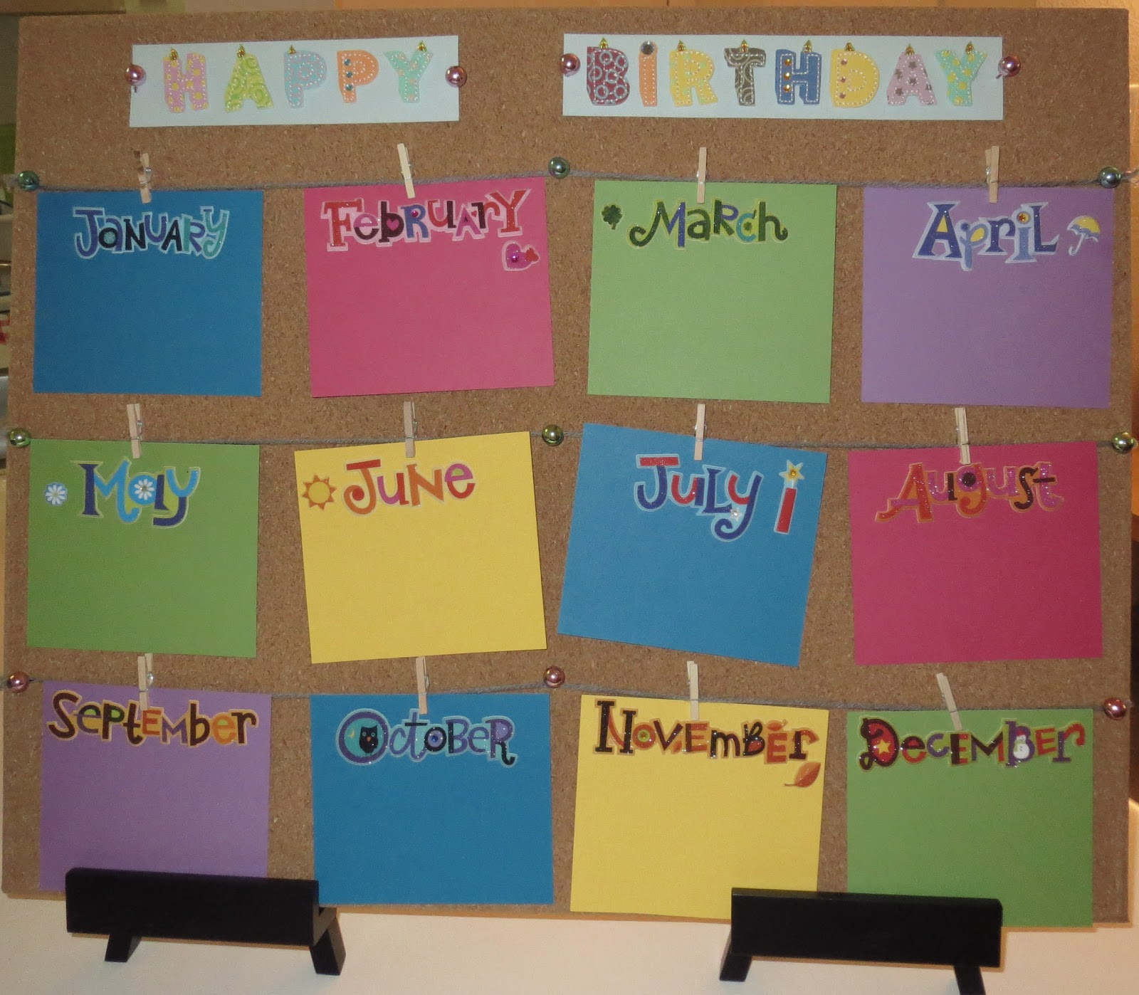 Classroom Birthday Ideas : Ms jess classroom birthday board