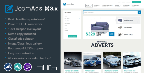 Best Classifieds ads joomla template