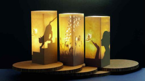 Marzua w lamp originales l mparas realizadas a partir de - Lamparas de mesa originales ...