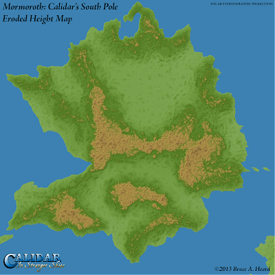 Mormoroth: Calidar's South Pole, Eroded Height Map
