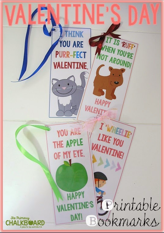 Free Valentine's Day bookmarks and MORE