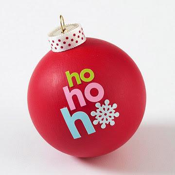 Tradicional bola de navidad pero con letras