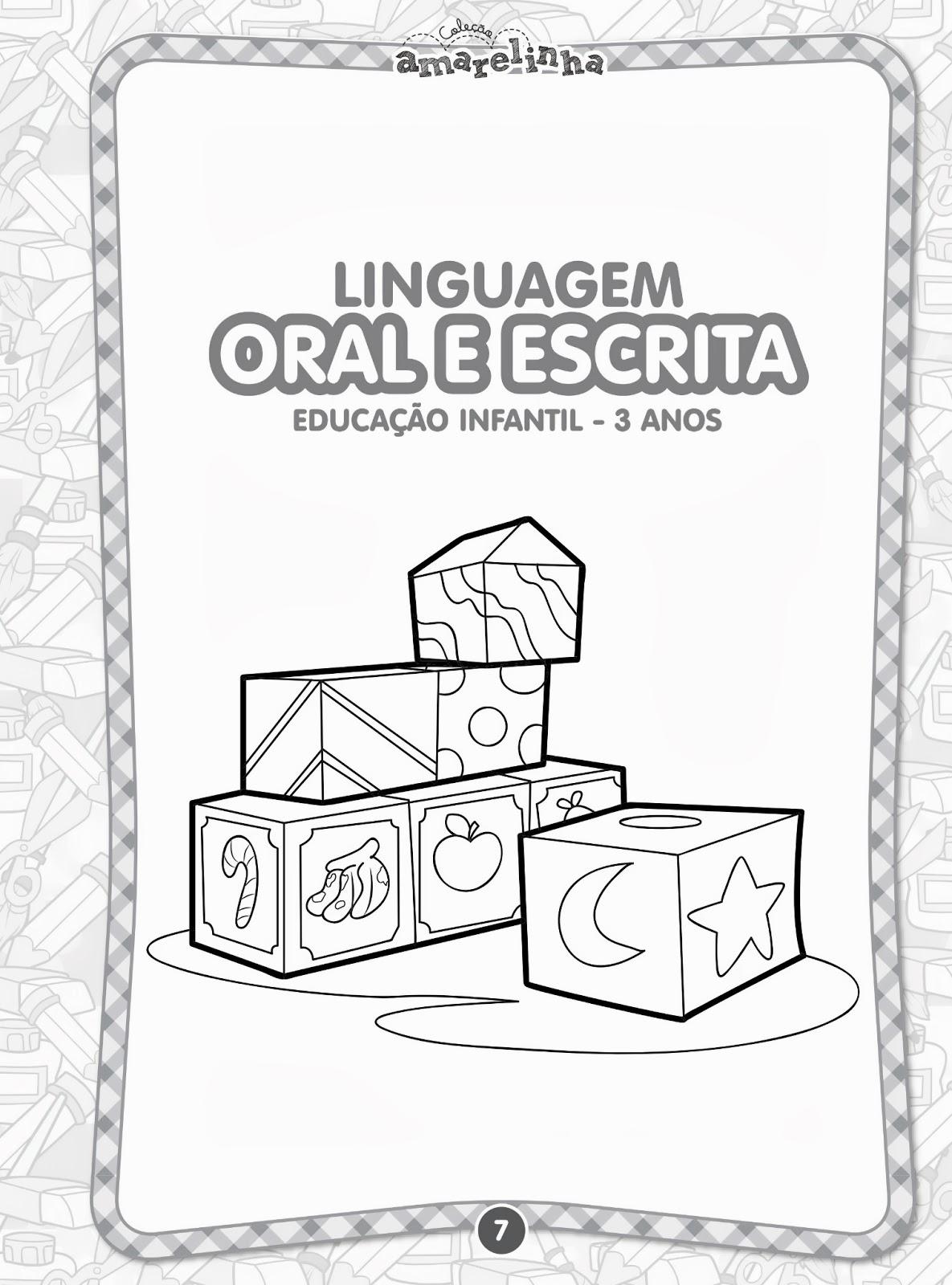 Suficiente Aprender Brincando: Coleção Amarelinha Linguagem Oral e Escrita  NN95