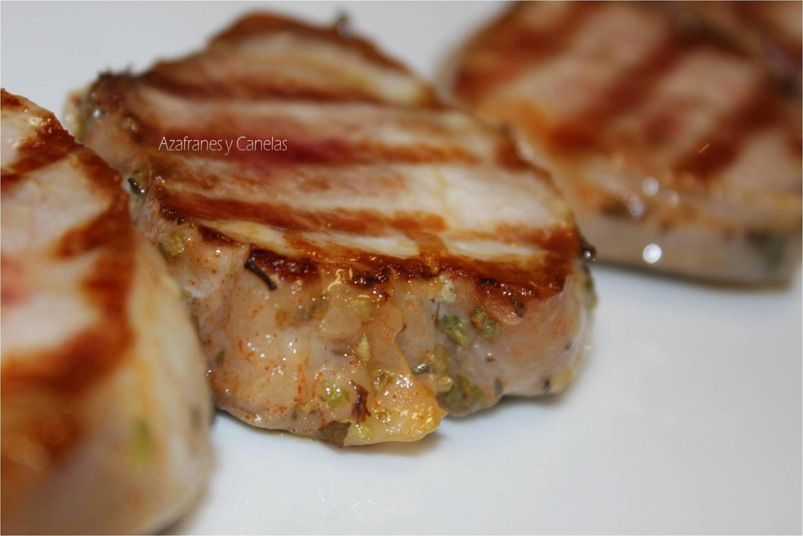 Solomillo de cerdo ib rico adobado azafranes y canelas - Como preparar un solomillo de cerdo al horno ...