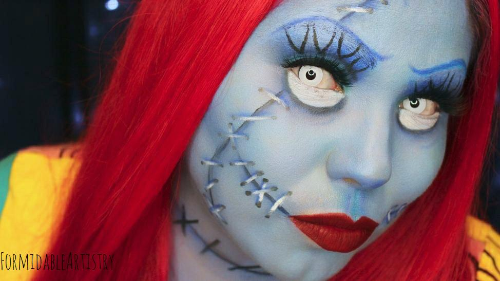 Sally from nightmare before christmas makeup