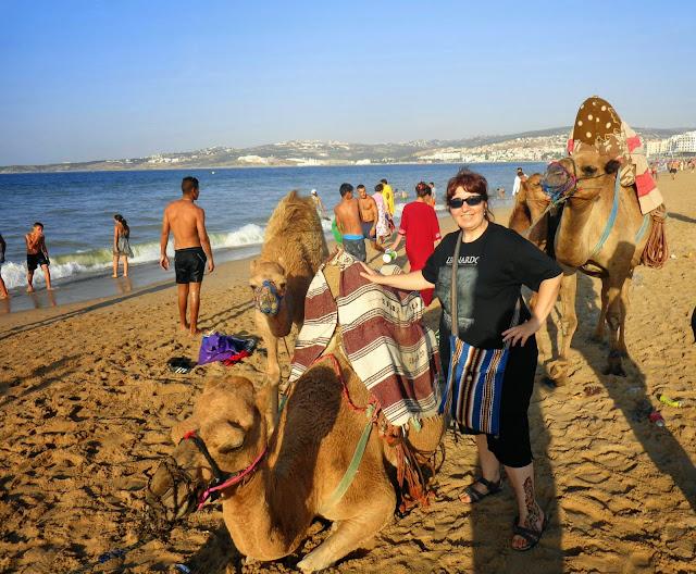 Playas de Tanger. Camellos.