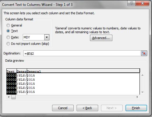 cara menggunakan fungsi text to columns pada office excel