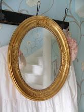 Antik Guldspegel
