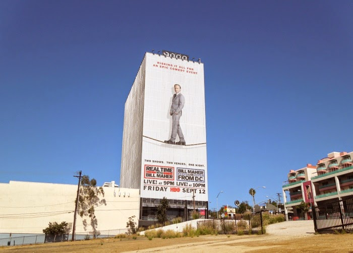 Real Time Bill Maher tightrope billboard