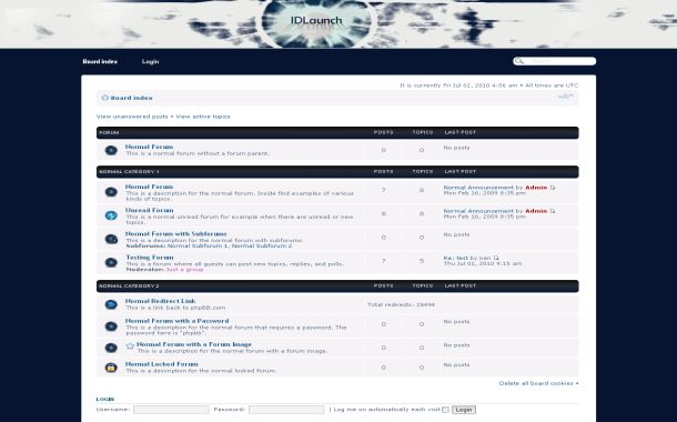 Free Digital Blue White Phpbb Style Theme Template