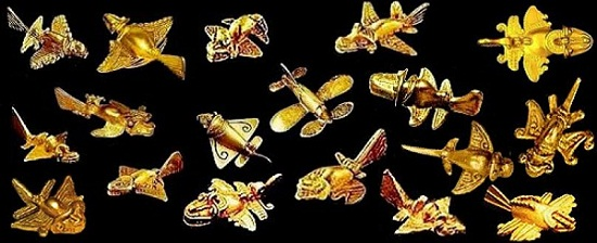 aviones de oro precolombinos