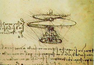 cuentos y relatos sobre Leonardo Da Vinci. Helicóptero