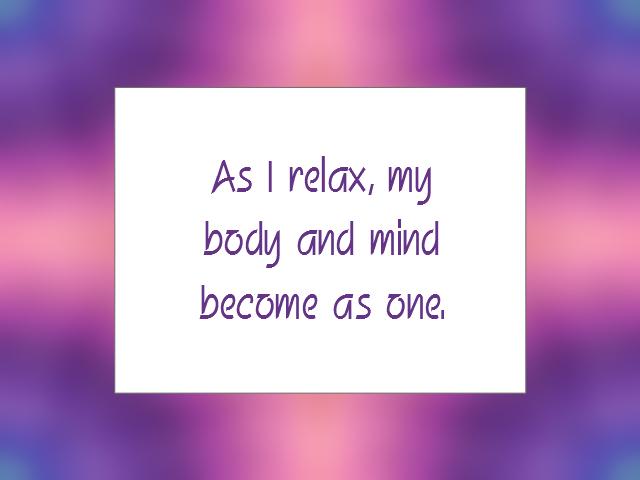 MEDITATION affirmation