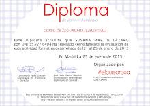 Diploma de Seguridad Alimentaria
