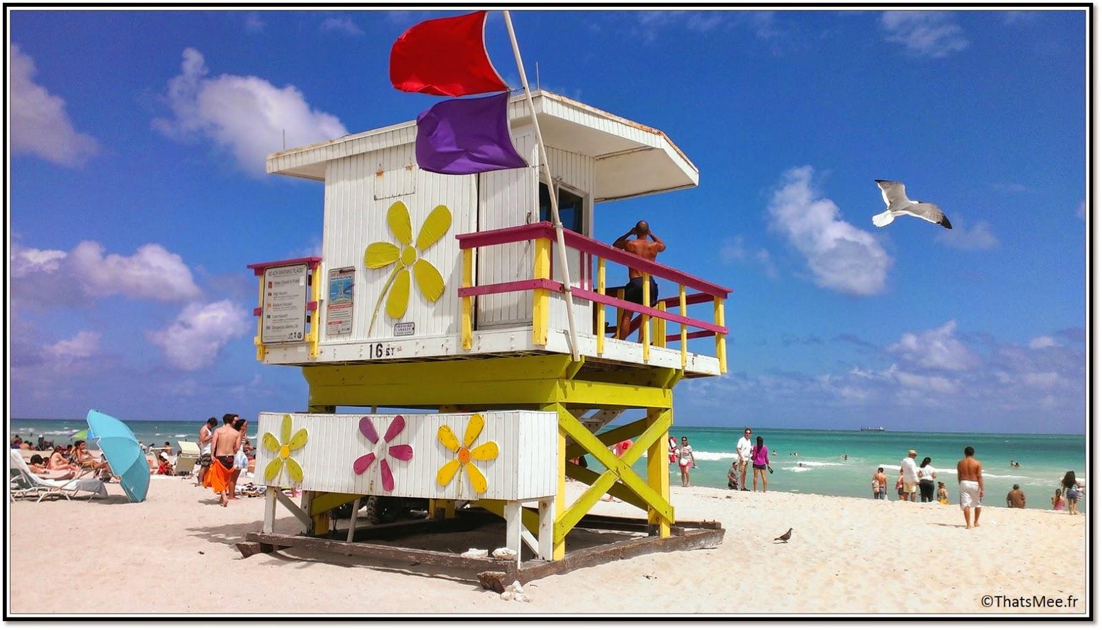 Miami Beach Ocean Drive baywatch