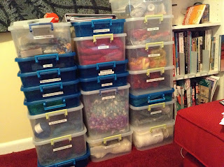 crafty supply hoarding | yarn hoarding