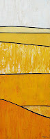 Yellow abstract landscape painting