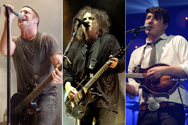 Lollapalooza 2013 - Trent Reznor of Nine Inch Nails, Robert Smith of The Cure, Marcus Mumford of Mumford & Sons