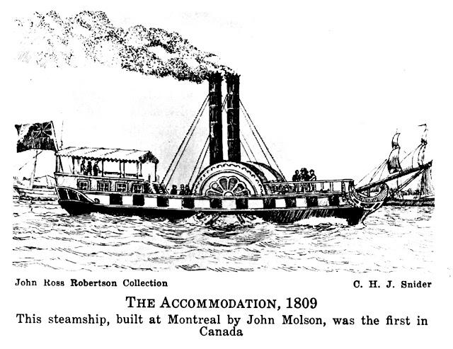 This steamship, built at Montreal by John Molson, was the first in Canada.