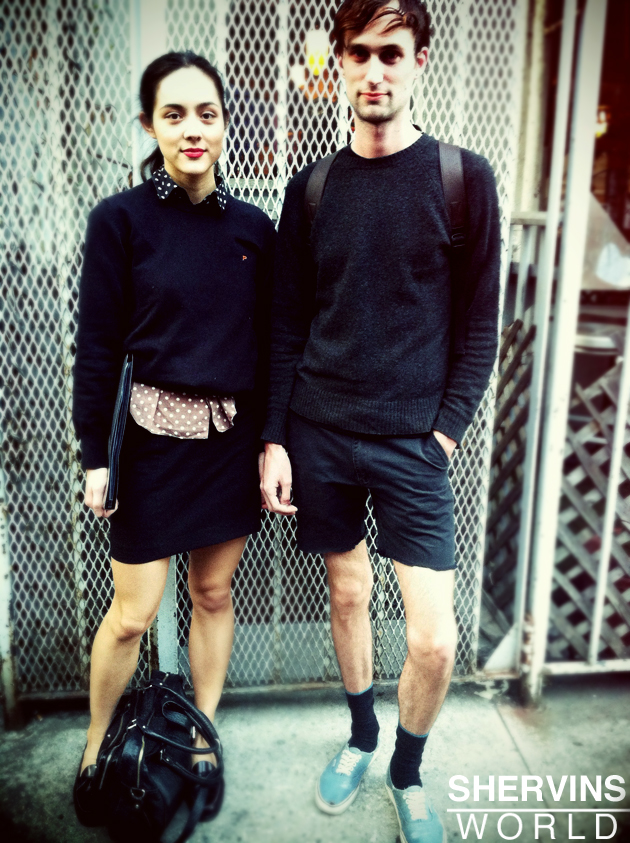 Hipster people in the east village with awesome fashion