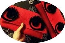 Filcowa kopertówka z oczami