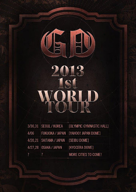 G-Dragon to embark on a solo world tour.