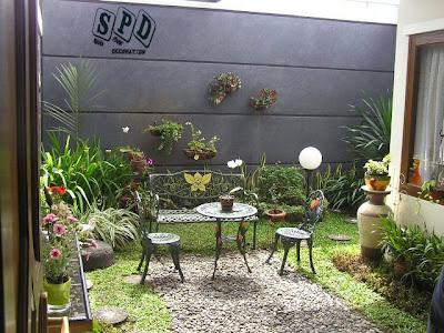 sketsa dekorasi taman, dekorasi taman ideal disesuaikan dengan lahan
