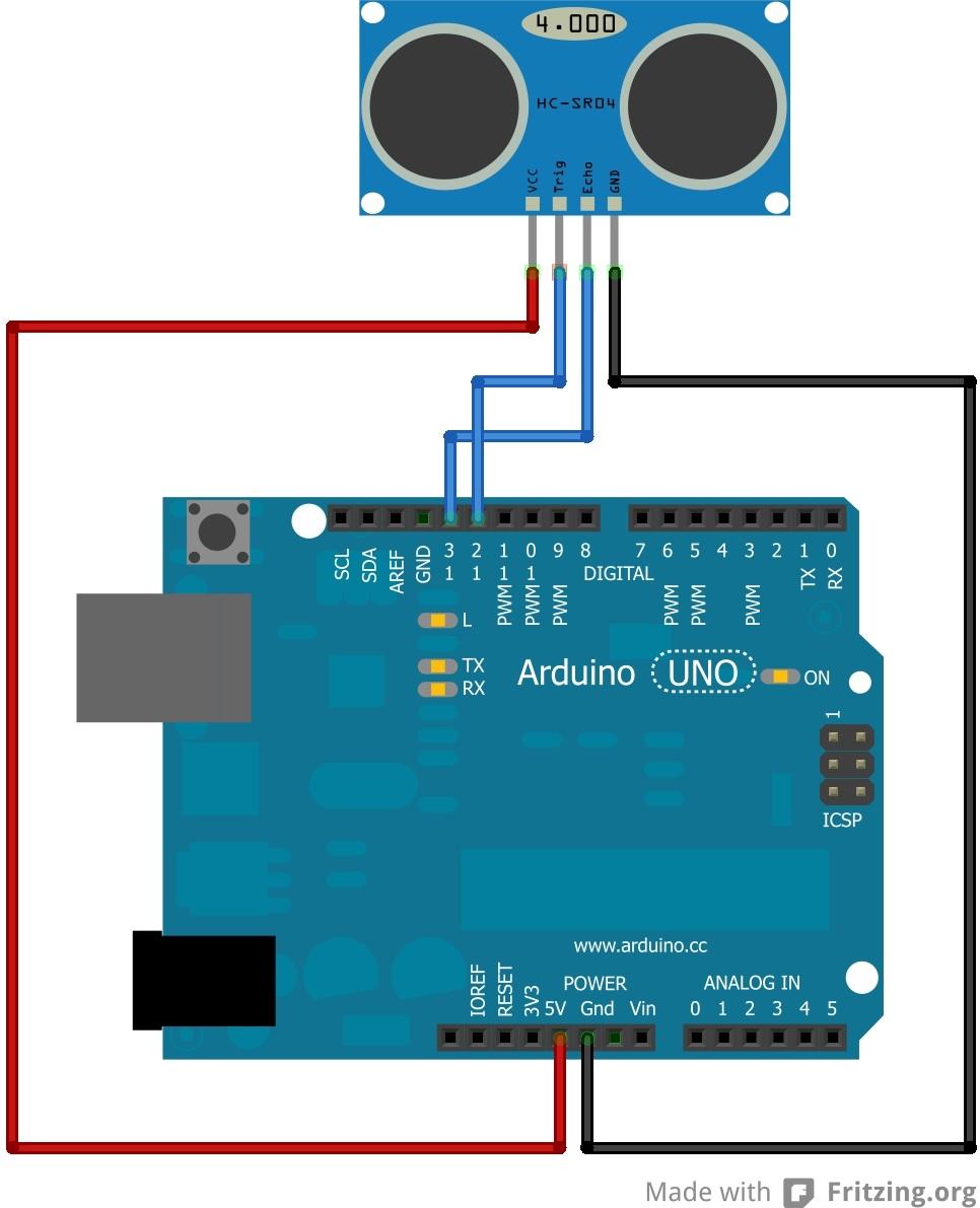 HC-SR04 87 Segment Display playground2014