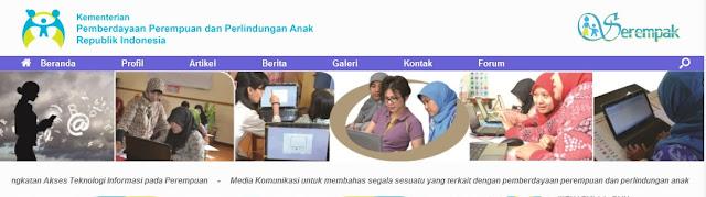 Portal serempak untuk perempuan dan anak