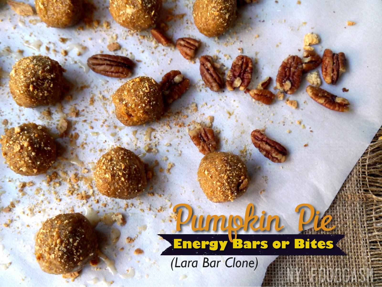 NY FoodGasm: Pumpkin Pie Energy Bars & Bites (Lara Bar Clone)