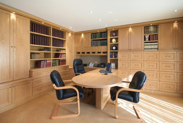 Luxury Office Design Wooden Interior Ideas