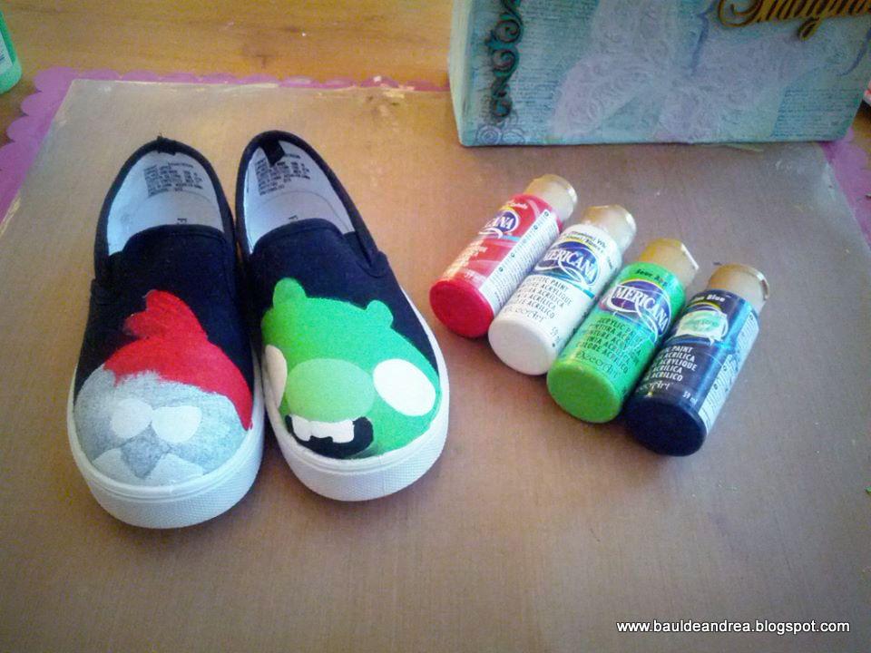 Hand painted canvas shoes zapatos de tela pintados a - Como pintar telas a mano ...